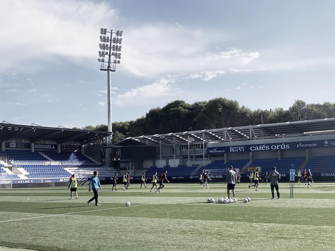 Entrenamiento de la SD Huesca / Twitter: SD Huesca