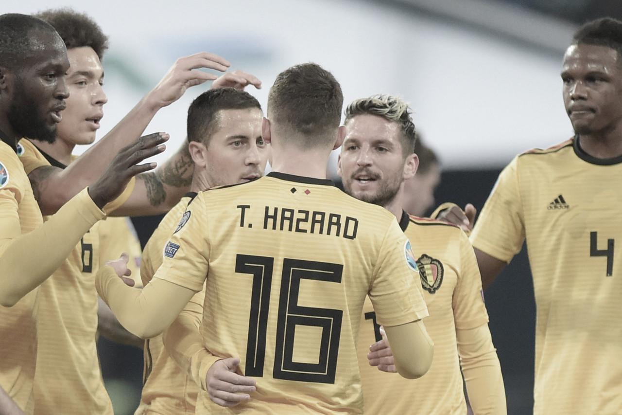 Bélgica goleia Rússia e assume primeira posição do Grupo I das Eliminatórias da Euro
