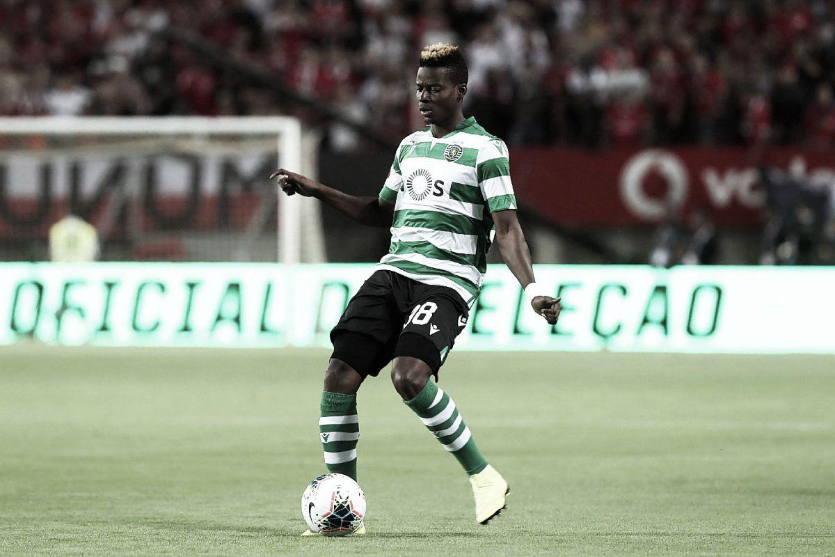 Idrissa Doumbia en una de sus apariciones con el Sporting de Portugal / Twitter: SD Huesca