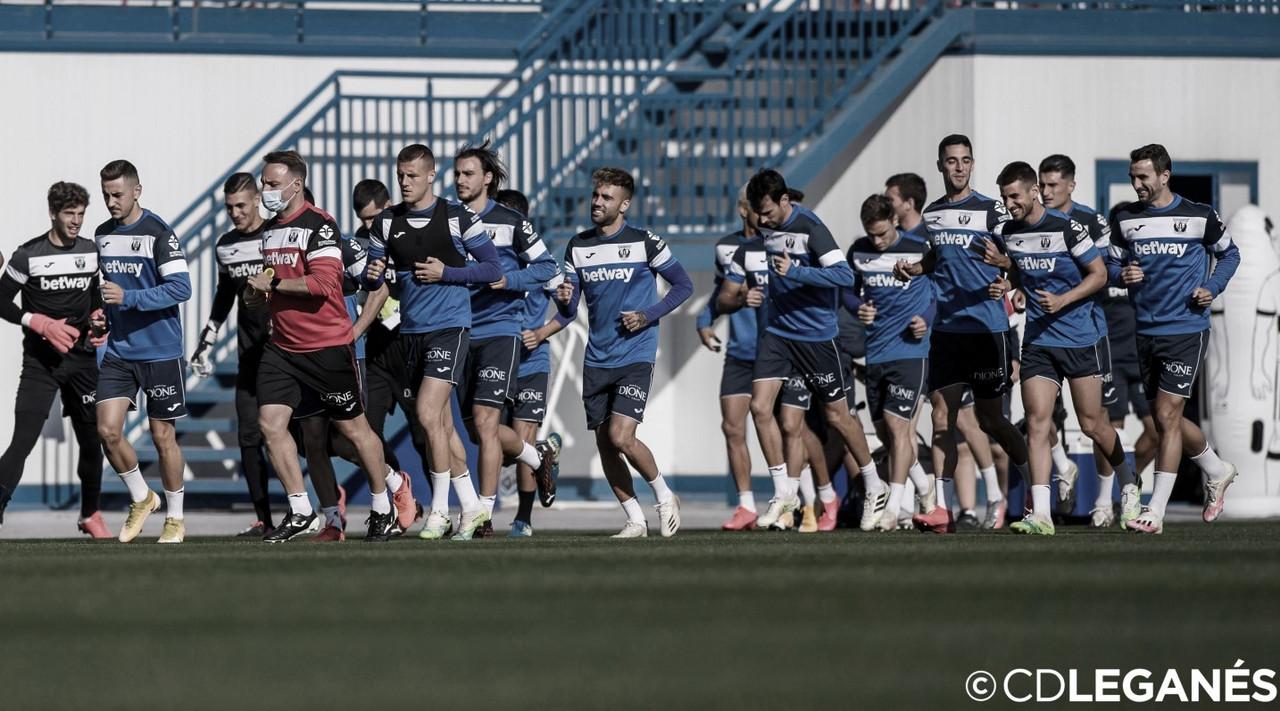 La plantilla del CD Leganés durante un entrenamiento | Foto: CD Leganés