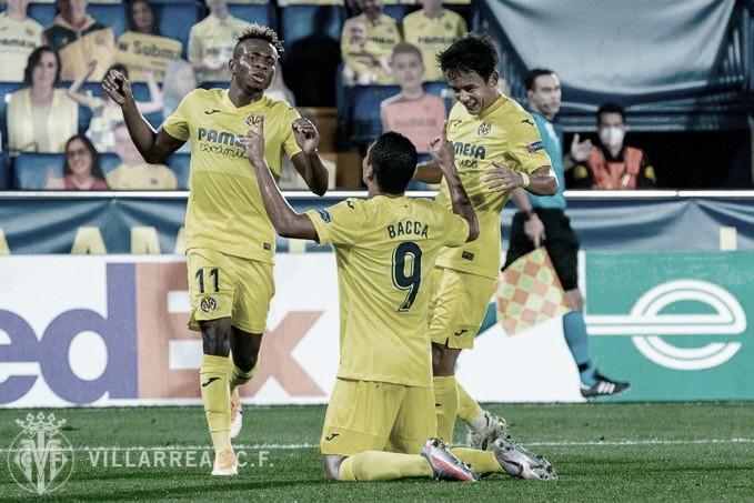 Carlos Bacca celebra su gol 22 en esta competición / Foto: Villarreal C.F