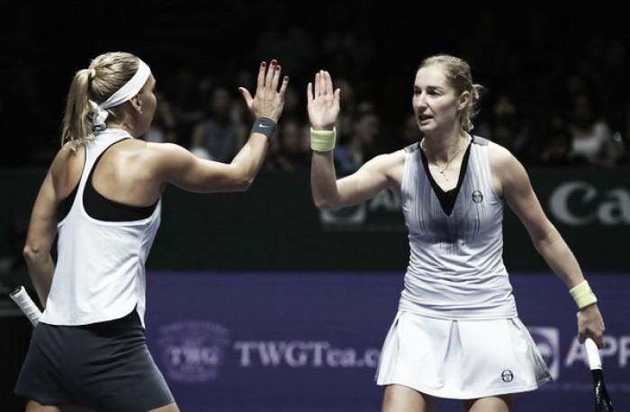 WTA Finals: Defending champions Ekaterina Makarova and Elena Vesnina gets off to a winning start