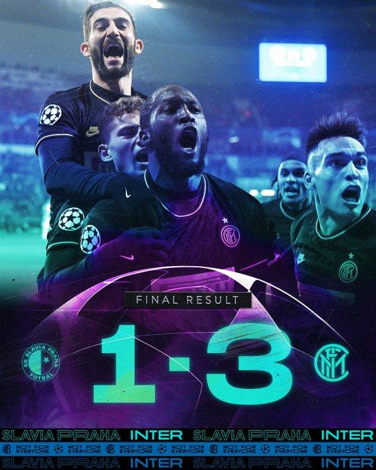Champions League - L'Inter dilaga nel secondo tempo: finisce 3-1 contro lo Slavia Praga