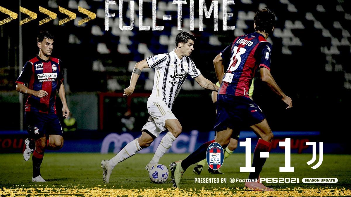 1-1 tra Crotone e Juventus