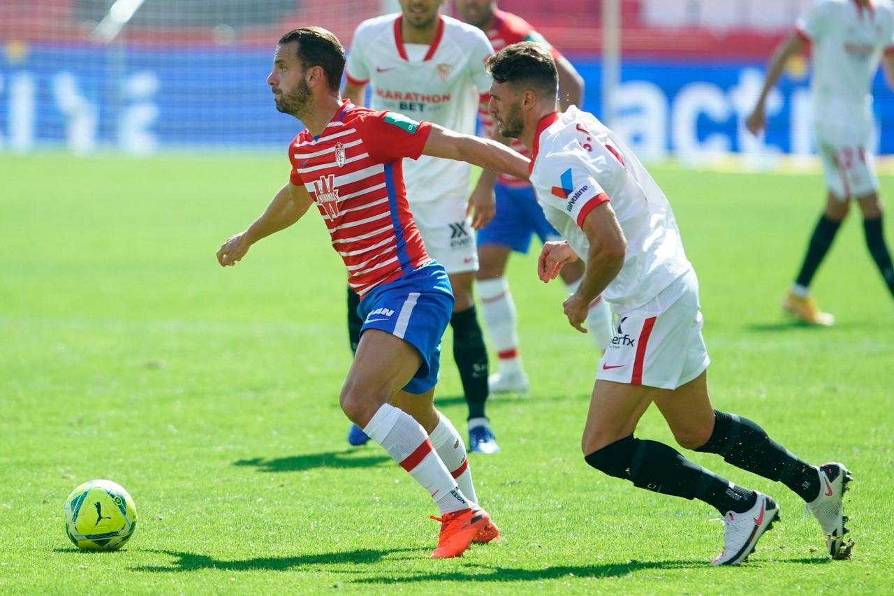 Soldado en el último partido contra el Sevilla FC | Foto: LaLiga