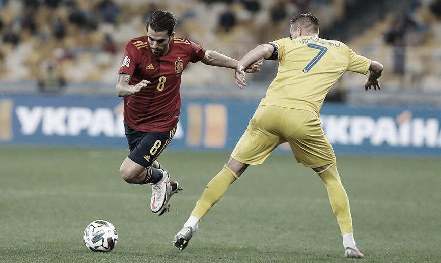 Ucrânia vence Espanha pela Nations League com boa atuação da zaga