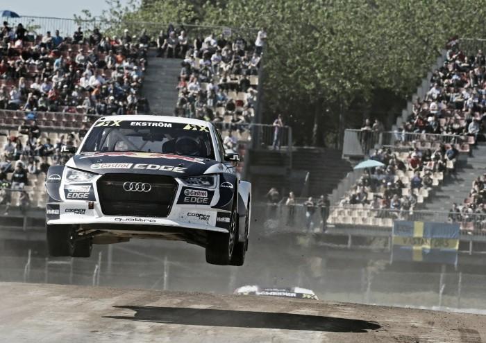 Mattias Ekström vence etapa de Barcelona do Mundial de Rallycross