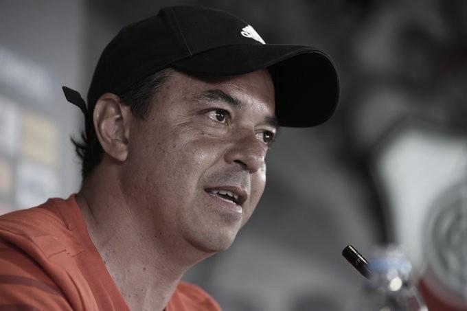 DIFERENTES TEMAS. Gallardo, tocó diferentes temas en general en conferencia de prensa. Foto: Prensa River Plate