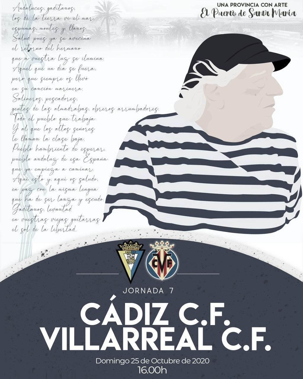 Cartel promocional del encuentro | Cádiz CF
