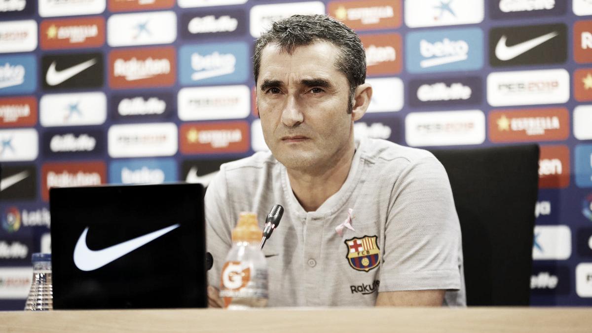 """Valverde exalta vitória do Barcelona, mas demonstra apoio a Lopetegui: """"Pode acontecer comigo"""""""