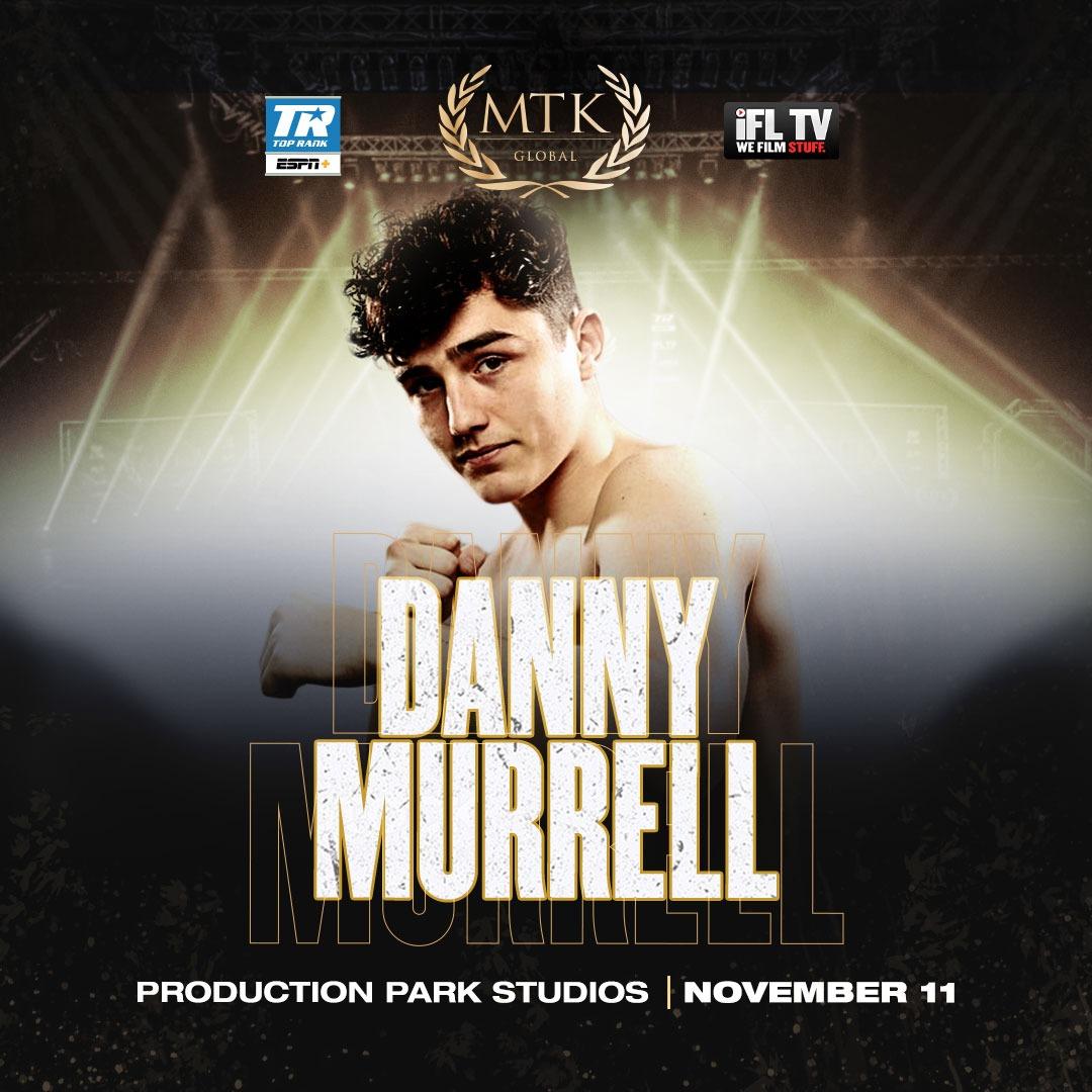 Dave Allen's Protégé Danny Murrell To Make MTK Global Debut