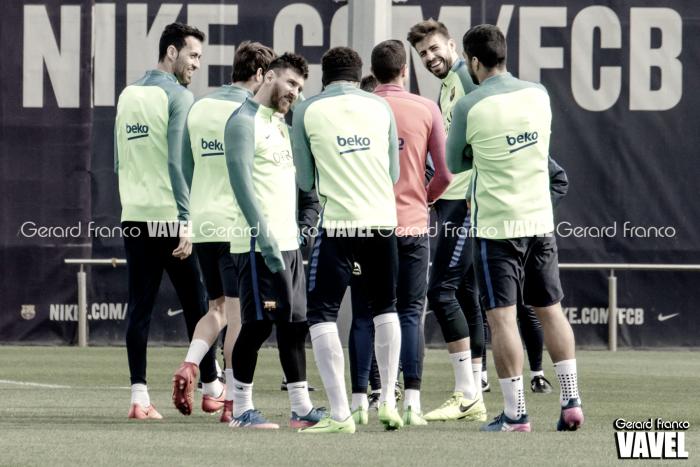 El último partido en el Camp Nou frente al Sportin ...
