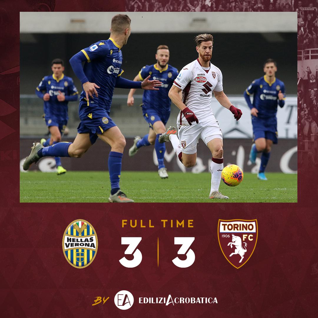 Pazzo lunch match di Serie A: finisce 3-3 tra Hellas Verona e Torino!