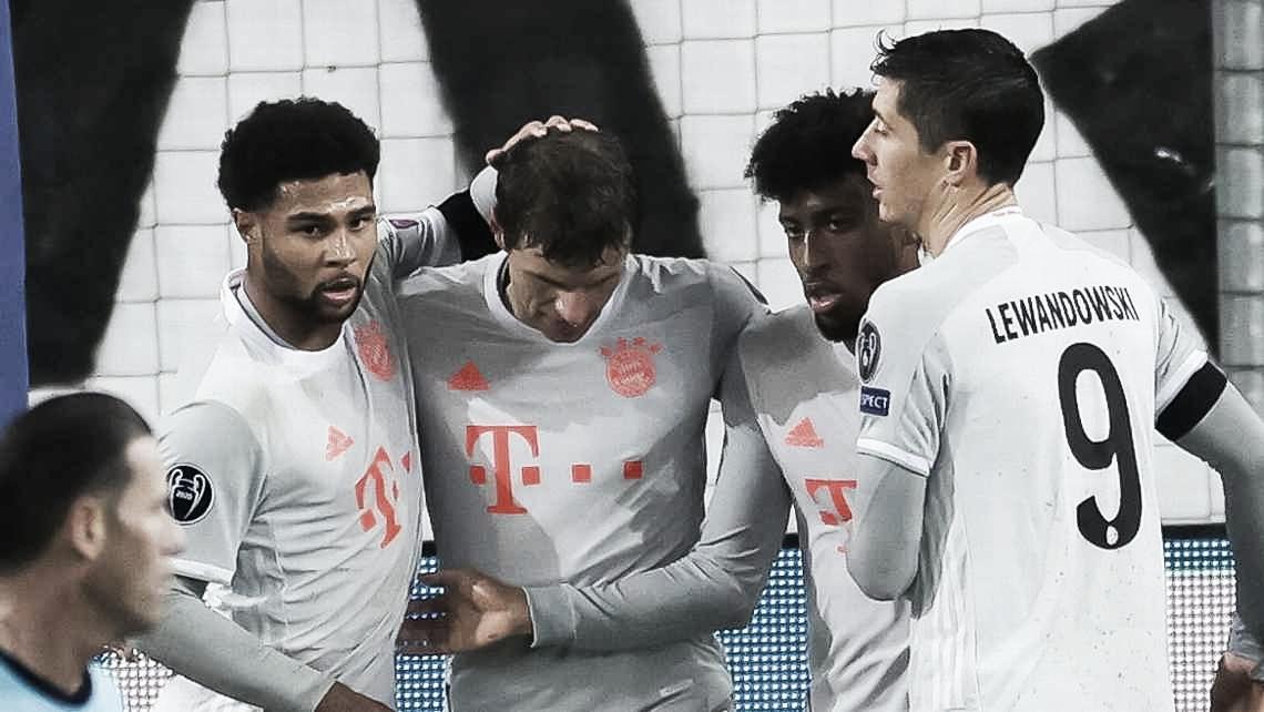 Bayern suporta pressão no primeiro tempo e goleia Red Bull Salzburg na reta final