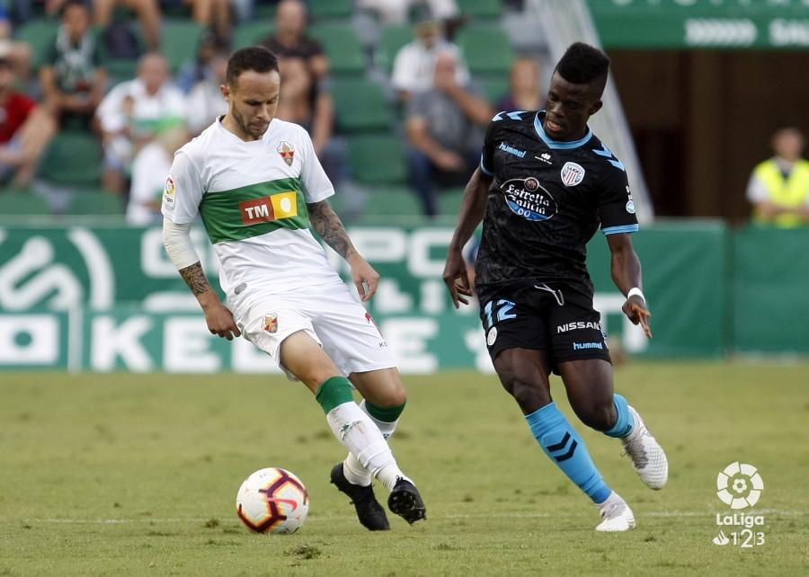 Lance del encuentro entre Elche y Lugo en la primera vuelta | Fuente: La Liga