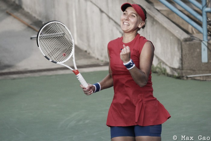 WTA Cincinnati: Elena Vesnina overcomes huge scare to outgun Caroline Garcia