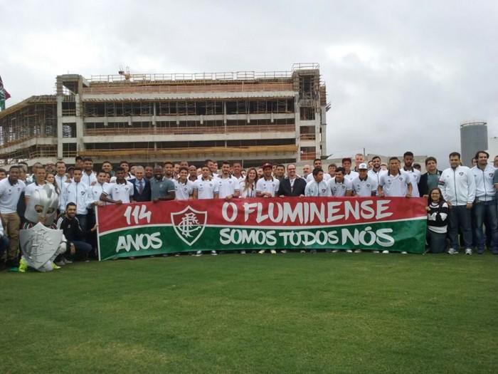 No aniversário do clube, Fluminense promove visita ao CT e apresenta reforços