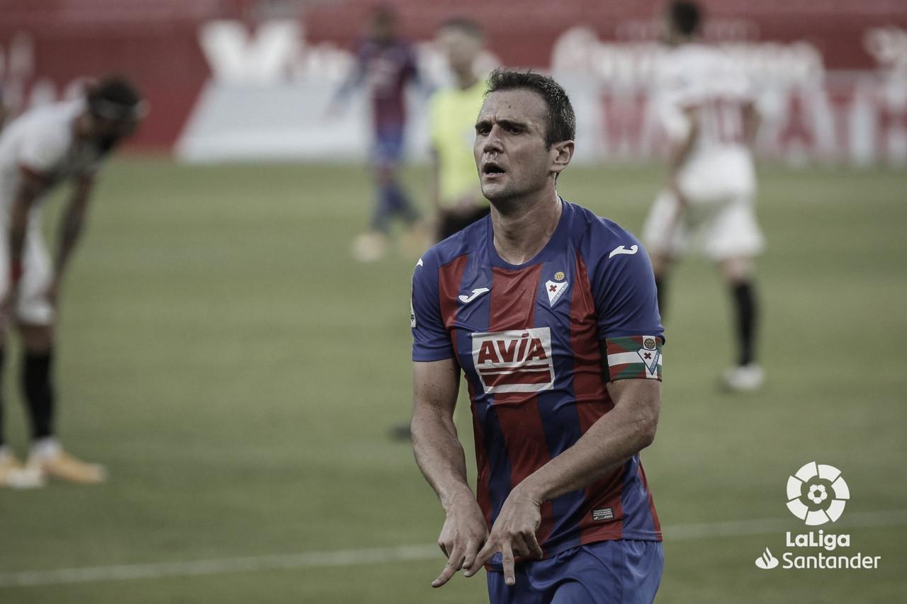 Kike García celebra el tanto logrado frente al Sevilla | LaLiga