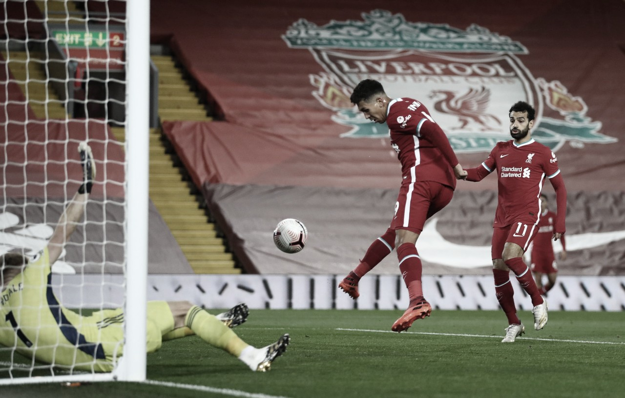 Roberto Firmino marcó el gol del empate. Vía: Premier League