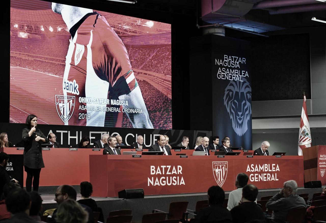 Asamblea general celebrada en el 2019. Fuente: Athletic Club