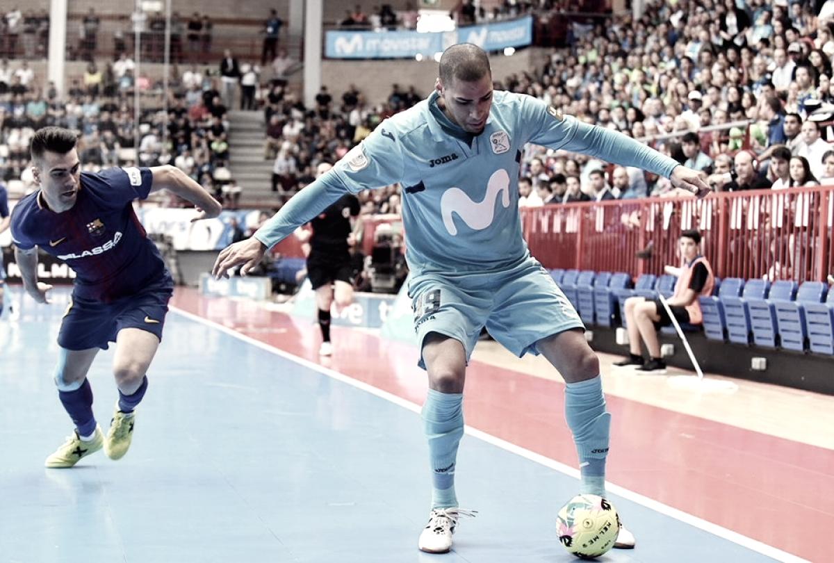 Movistar Inter aprovecha los errores del Barça para llevarse un partido muy igualado