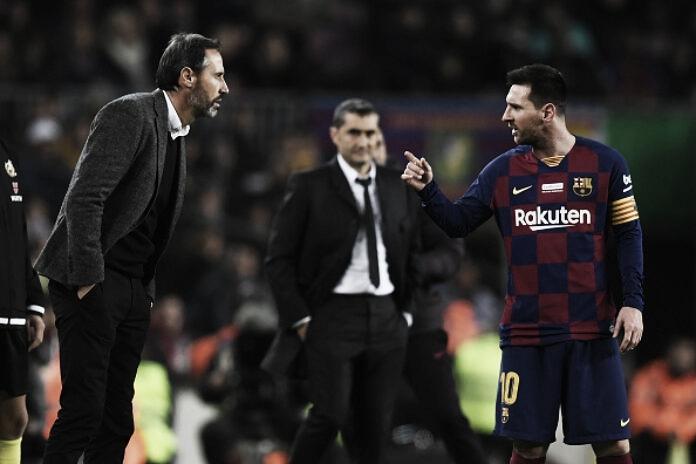 """Vicente Moreno: """"Enfrentarse al Barça siempre tiene una doble cara"""""""