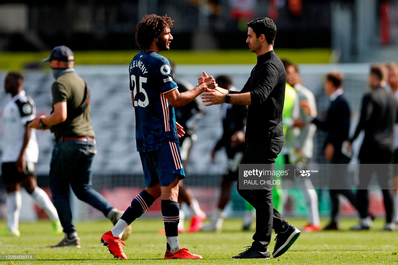 Elneny has praised Arteta for improving him as a player Photo by PAUL CHILDS via Getty Images