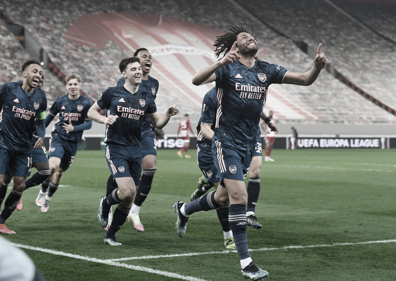 Arsenal vence Olympiacos fora de casa e encaminha vaga às quartas da Europa League
