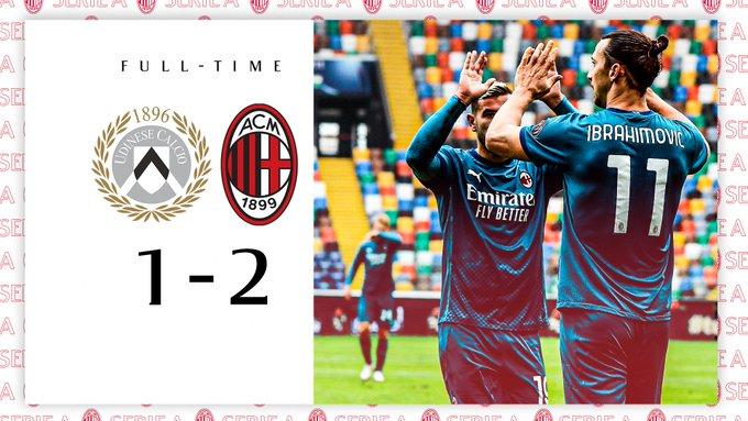 Serie A - Ibra Cadabra: il Milan vince contro l'Udinese per 2-1