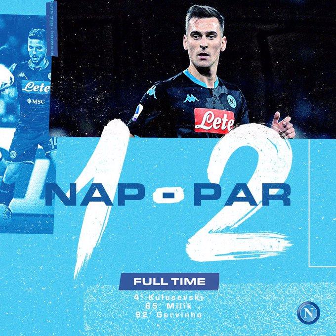 Serie A - Esordio amaro per Gattuso: il Parma vince 2-1 contro il Napoli