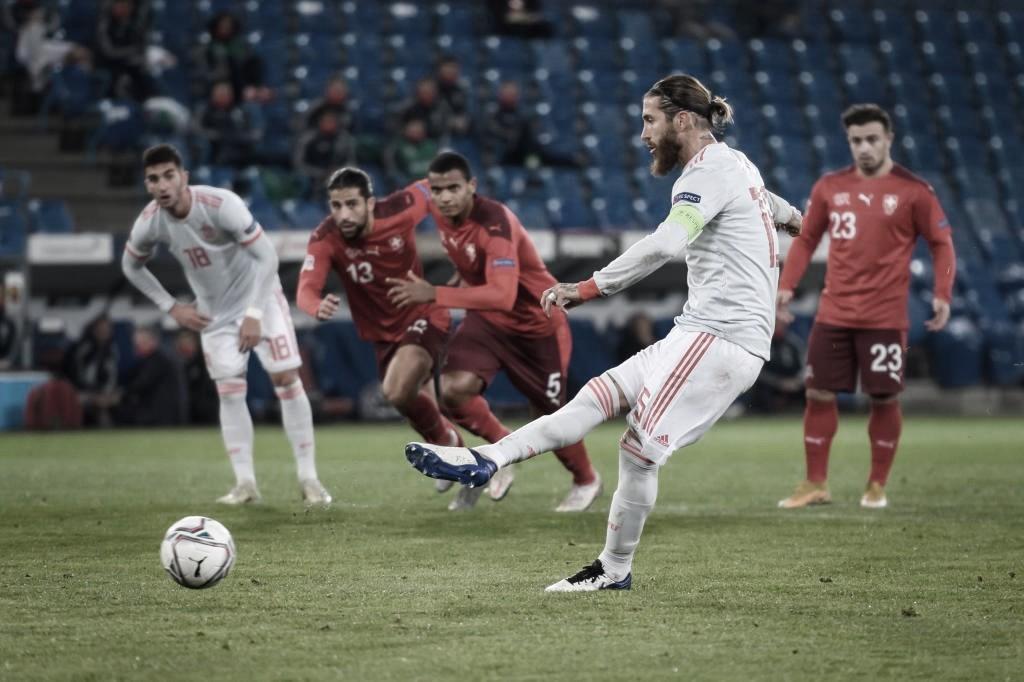 Ramos fallando el primer penalti / FOTO: AFP