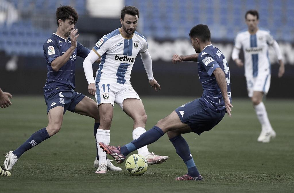 Juan Muñoz en un lance del juego frente al Alcorcón | Foto: CD Leganés