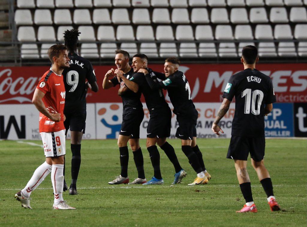 Celebración del gol de Migue García | Foto: @CanteraNazari