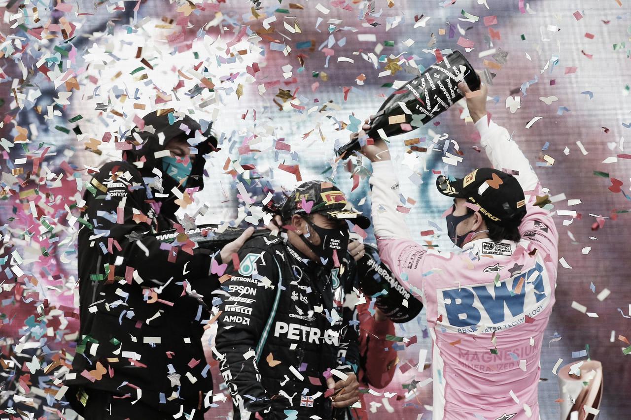 La foto del podio con Hamilton como campeón | Foto: Fórmula 1