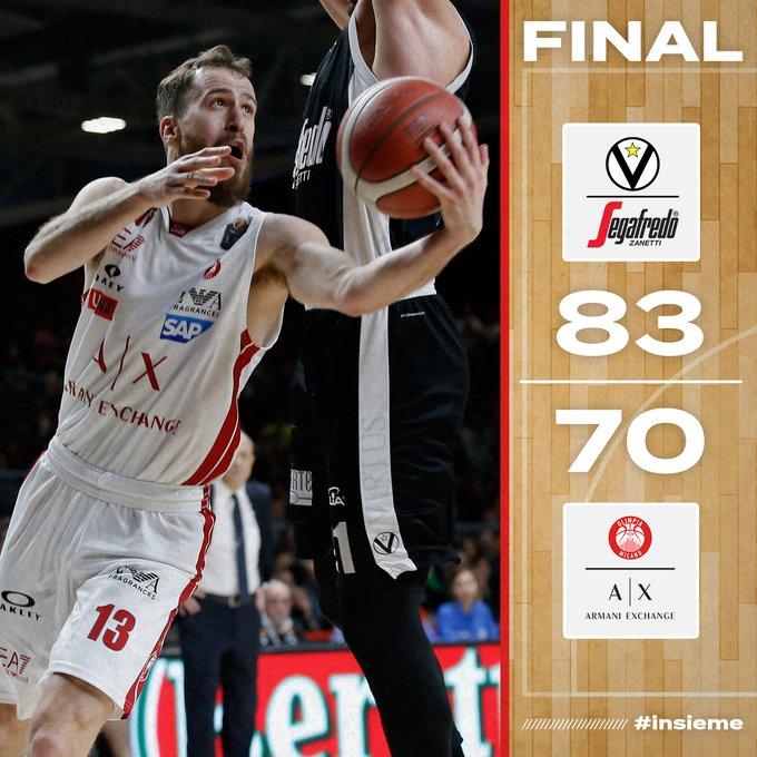 Legabasket - Bologna ha più energia di Milano: vittoria della Virtus per 83-70