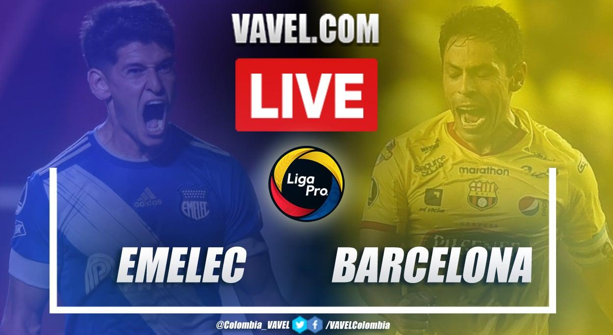 Resumen: Emelec vs Barcelona (1-1) en la LigaPro