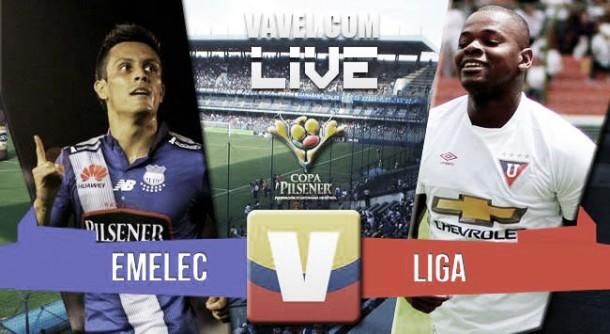 Resultado Emelec - Liga de Quito Final de ida Ecuador (3-1)