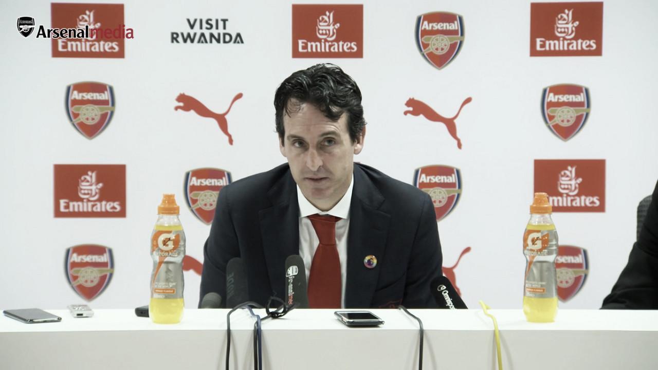"""Emery: """"Para nosotros son iguales estos tres puntos que los de Bournemouth o los de Manchester"""""""