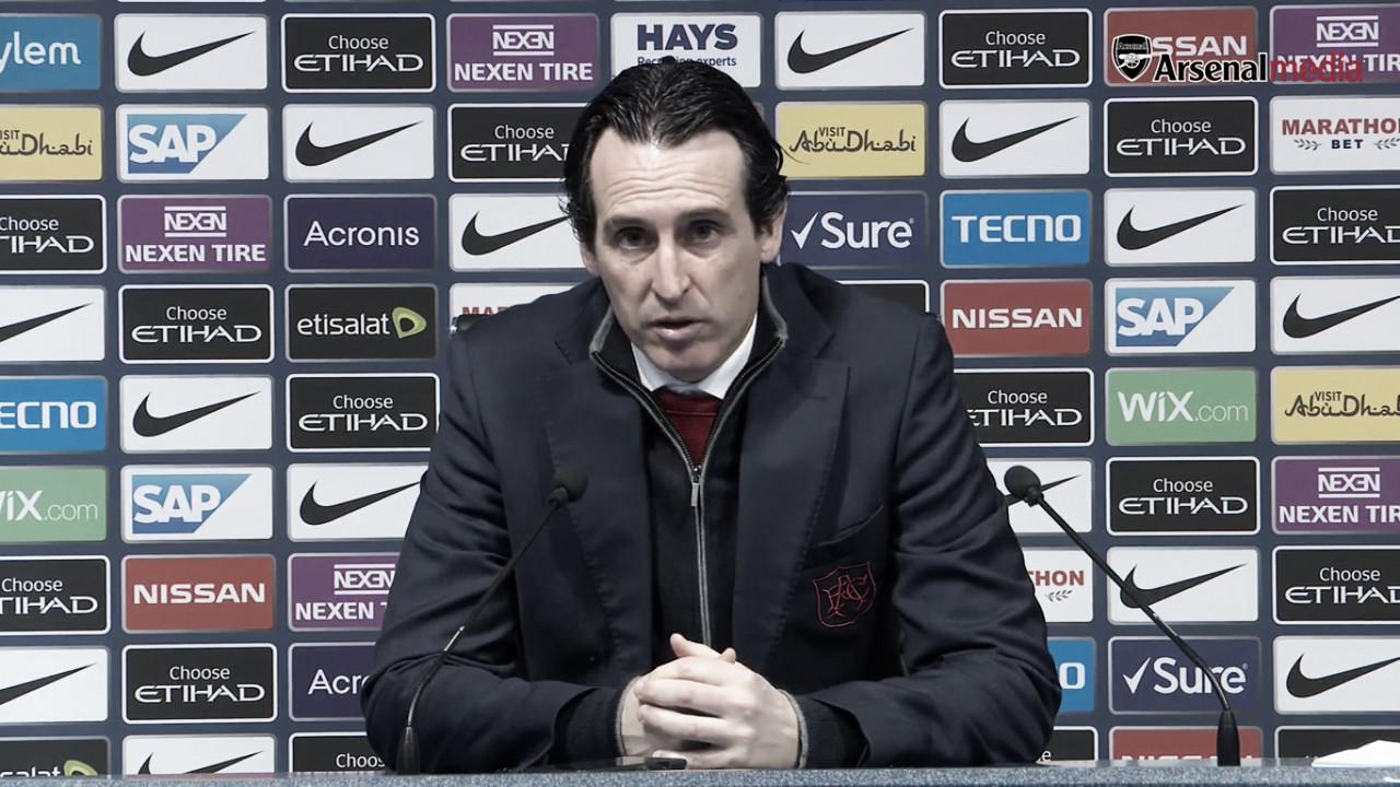 """Emery: """"Este resultado es la diferencia que hay entre el Manchester City y el Arsenal a día de hoy"""""""