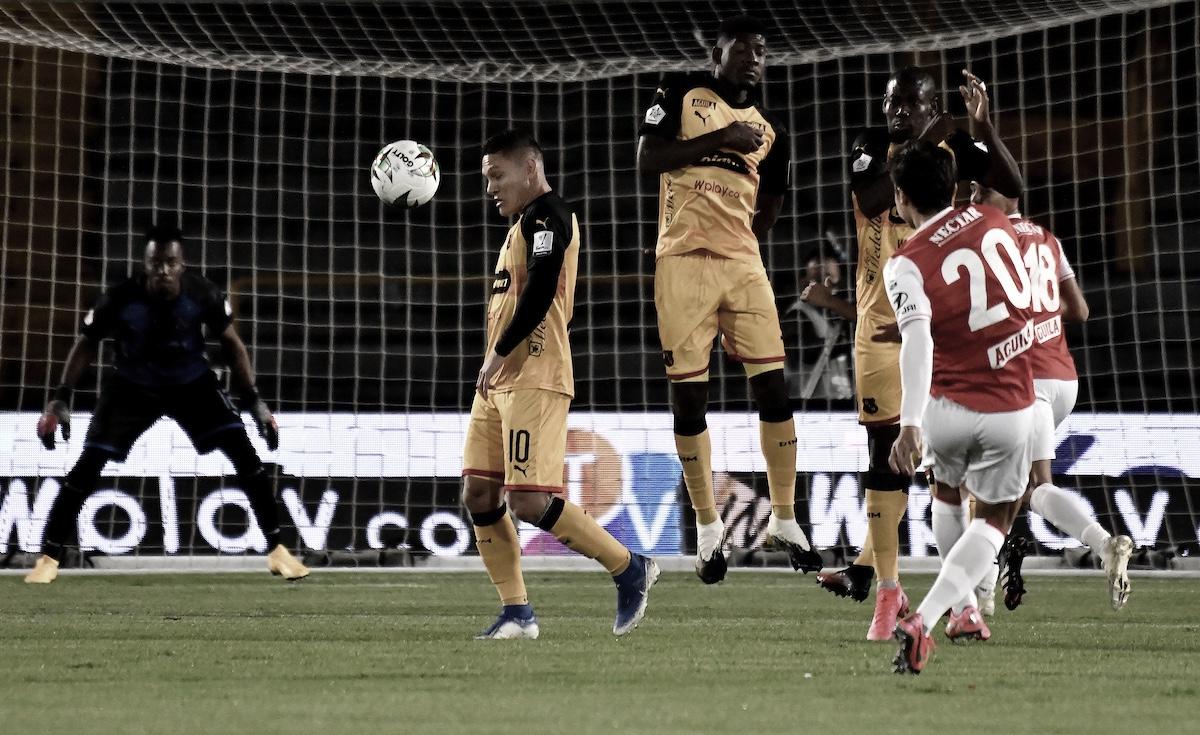 Estadísticas de la derrota del Medellín ante el Independiente Santa Fe