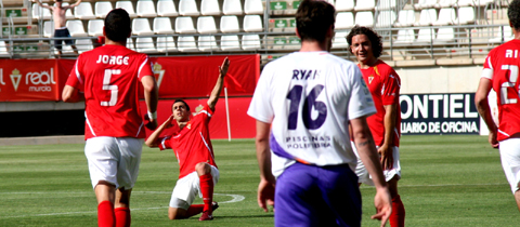 Golpe de calor del Real Murcia ante el Guadalajara