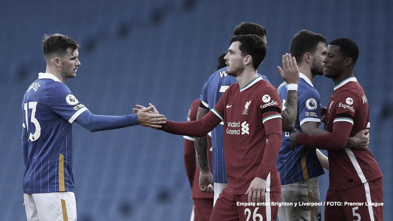 Reparto de puntos entre Seagulls y Reds. FOTO : Premier League