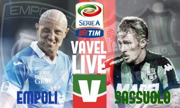 Live Empoli - Sassuolo, risultato partita Serie A 2015/16  (1-0)