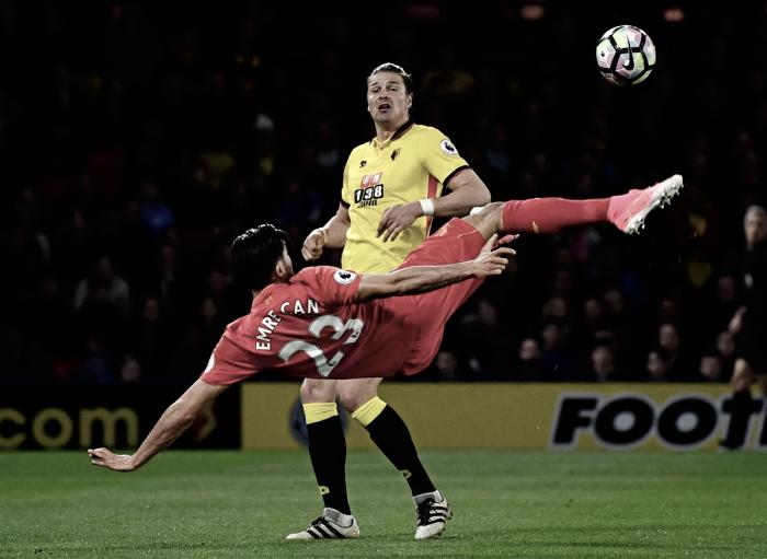 Premier League - Una magia di Emre Can regola il Watford: il Liverpool stacca il City