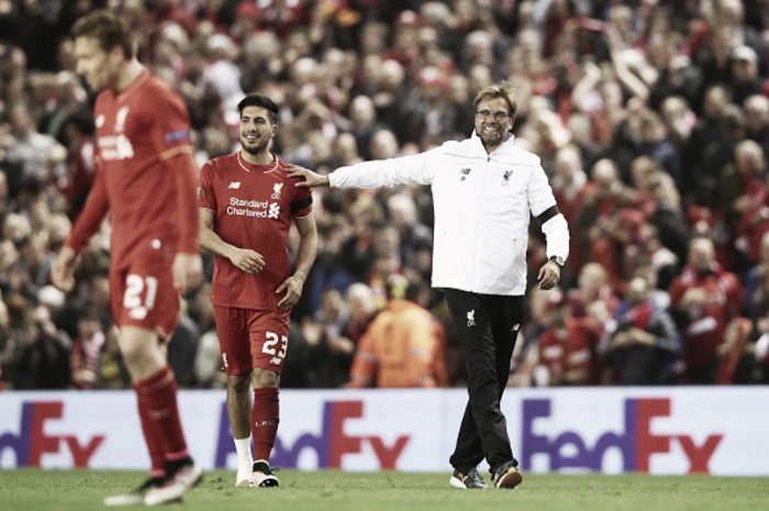 "Jürgen Klopp: Liverpool have to find ""other solutions"" to midfield without Emre Can"