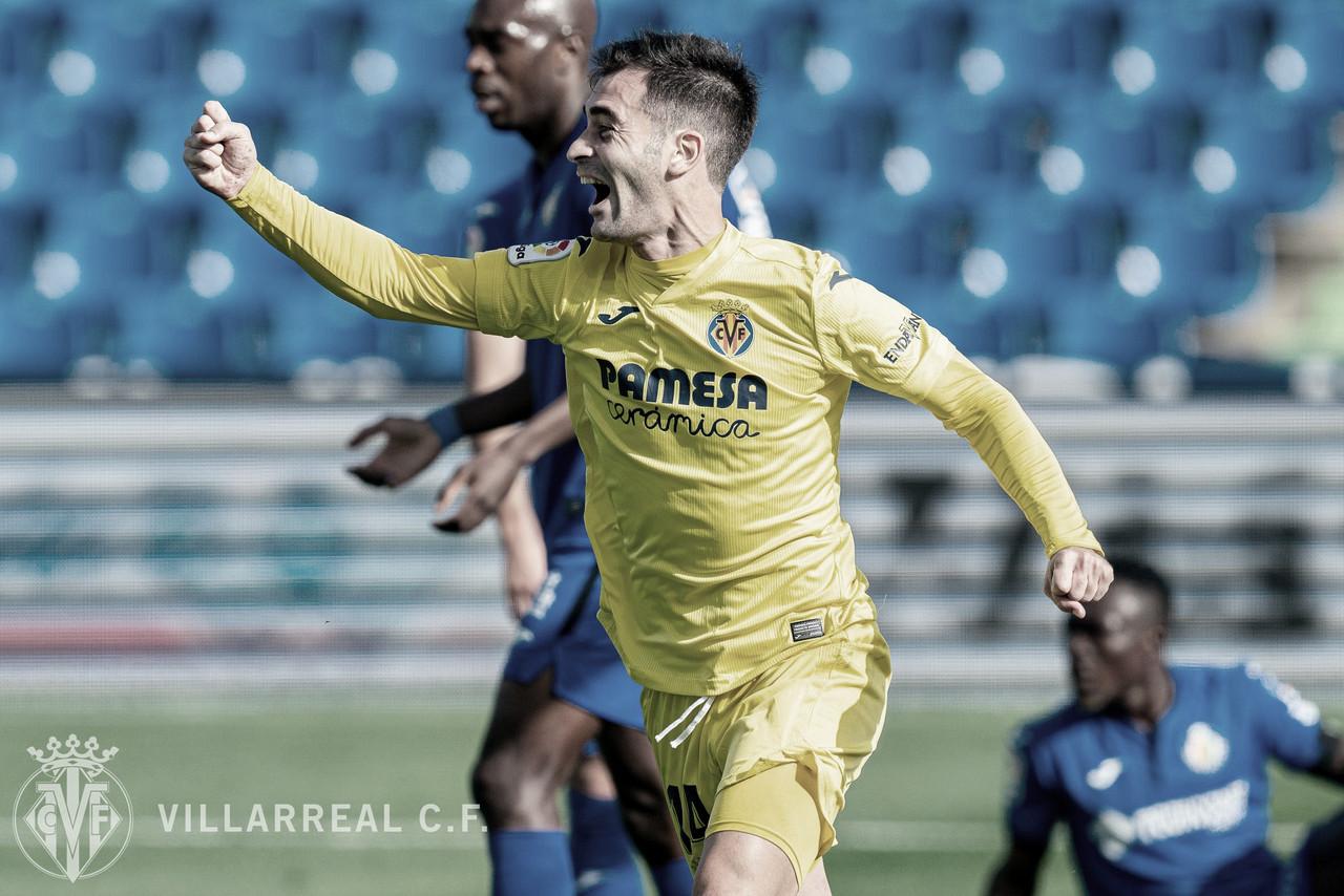 Trigueros celebrael gol / Foto: Villarreal C.F