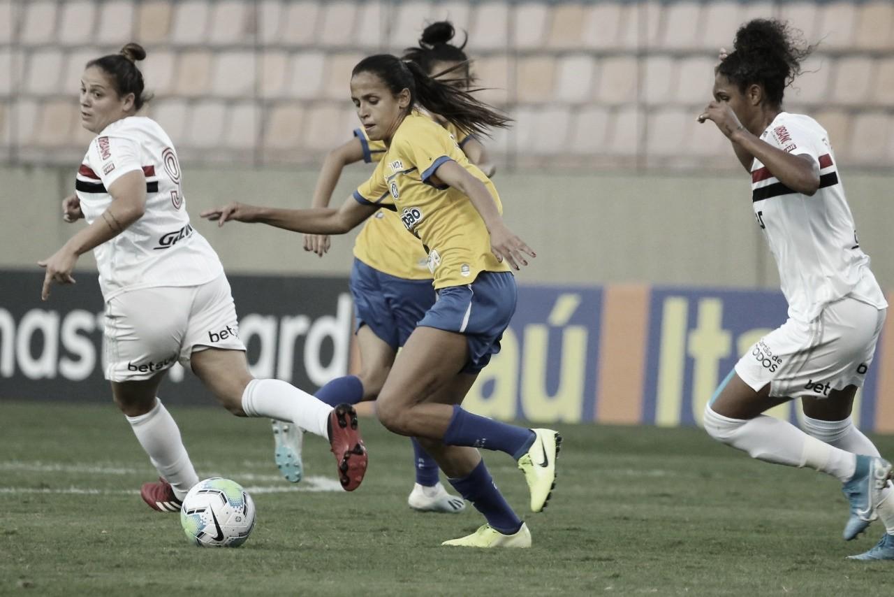 Avaí/Kindermann sai na frente do São Paulo na semifinal do Brasileirão Feminino