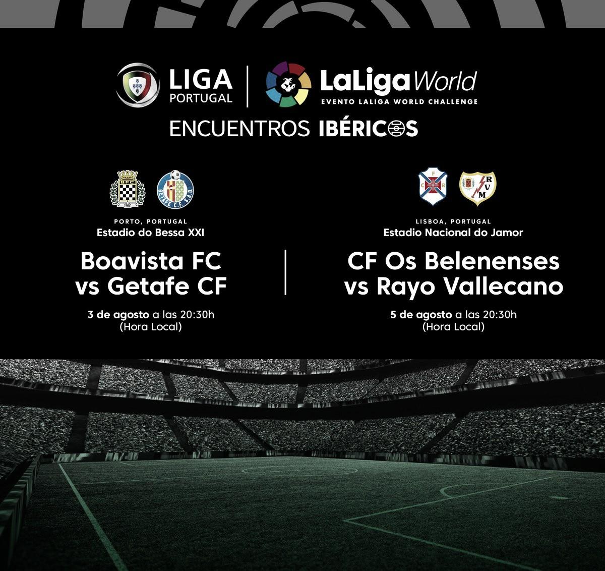 Rayo y Os Beleneses se medirán en Lisboa en agosto