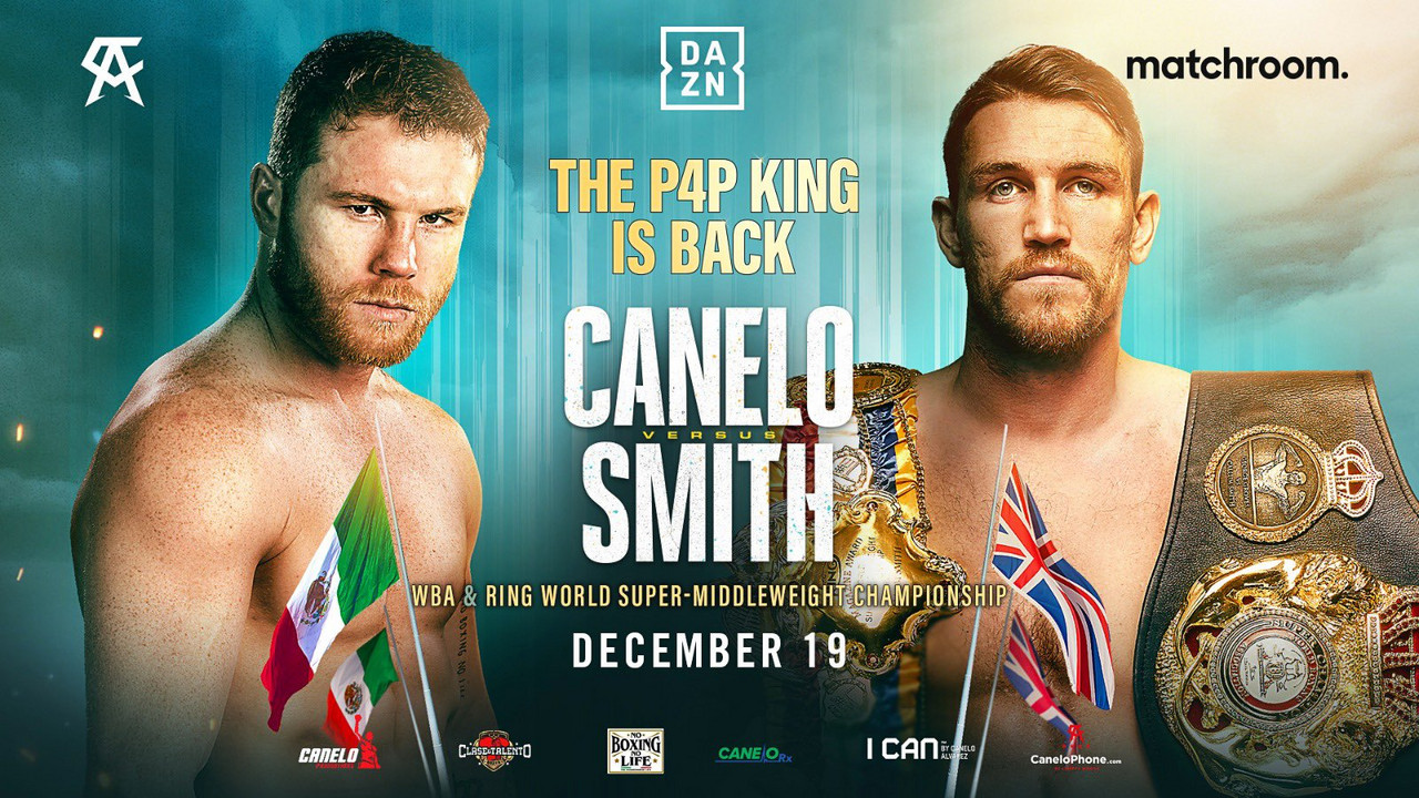 Canelo Alvaez to face Callum Smith on Dec. 19 in US