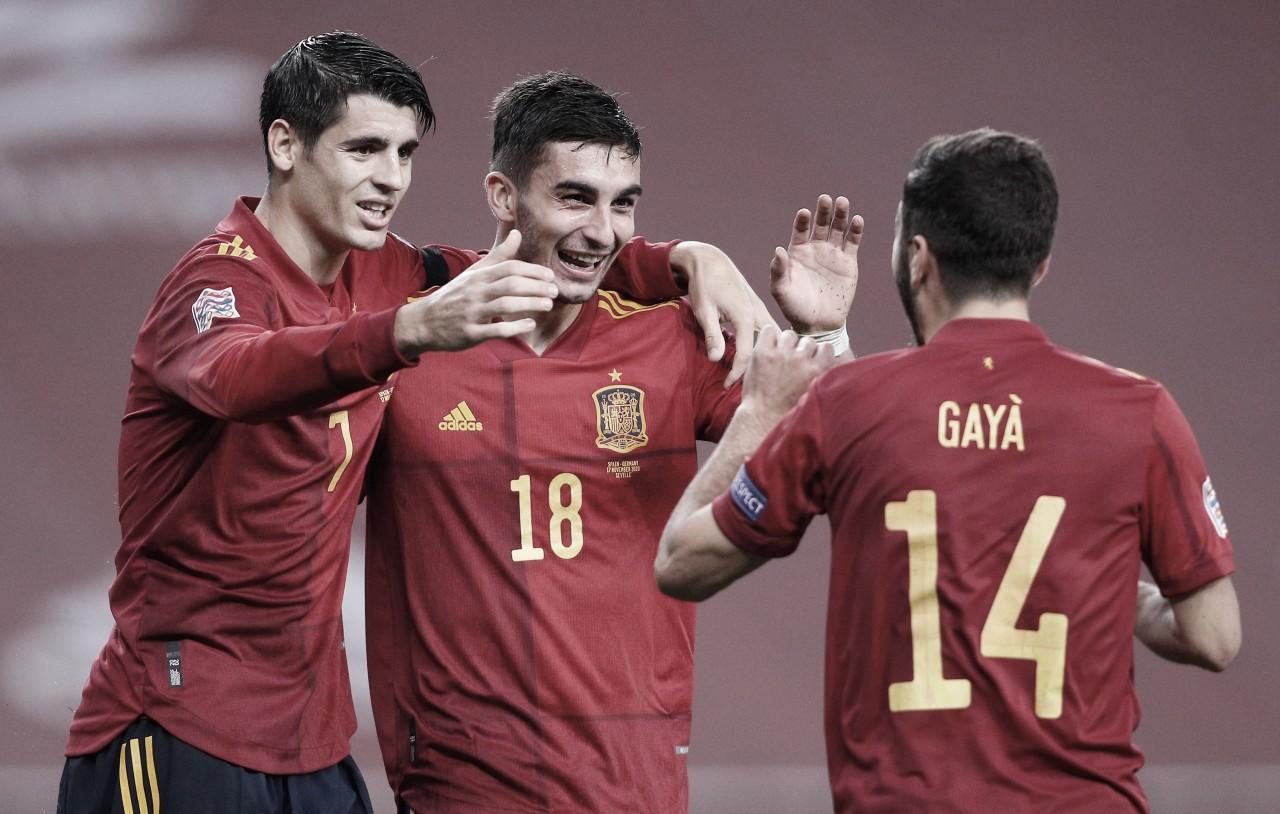 España 4-0 Georgia: 'La Roja' recupera la cima del grupo B